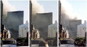 WTC 7 collapses straight down the center just like the twin towers