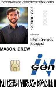 InGen ID badge