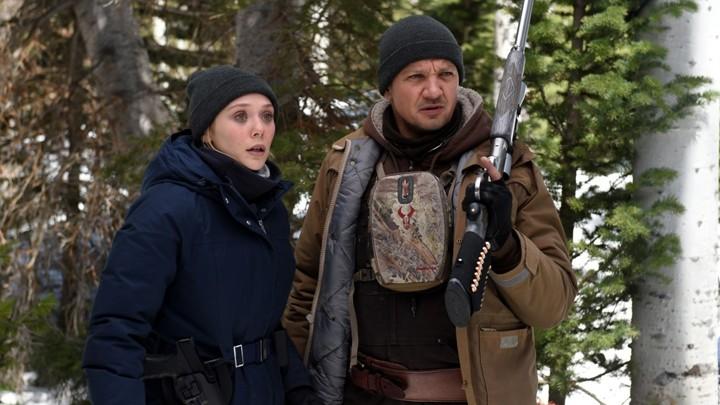 Elizabeth Olsen and Jeremy Renner star in Wind River Photo: Fred